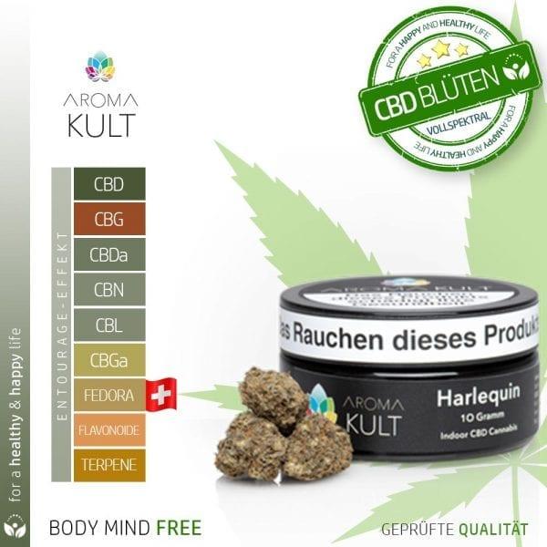 Aromakult CBD Blüten Harlequin 3% CBD 0.2% THC