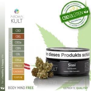 Aromakult CBD Blüten Sissi 8% CBD 0.2%THC