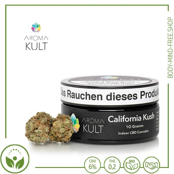 CBD Blüten California Kush CBD 6% Aromakult kl