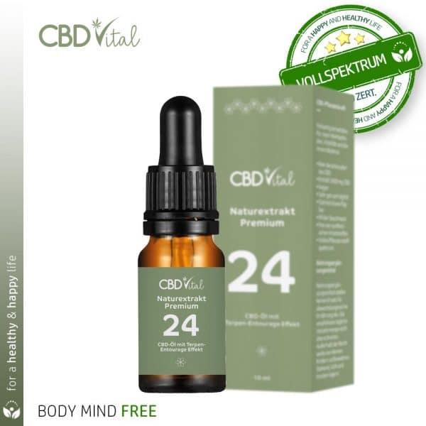 CBD Vital Hanfextrakt Premium 24% (2400mg CBD) BodyMindFree Shop