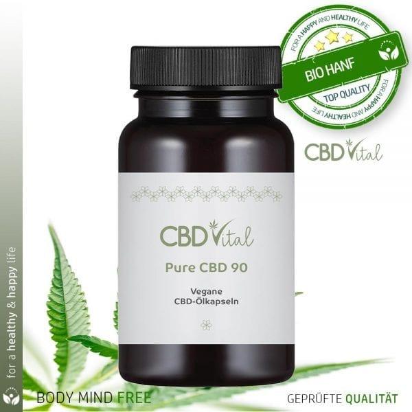 CBD Vital Pure CBD 90 Kapseln (90mg/Kapsel)