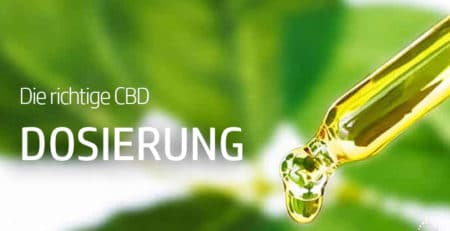 Die richtige Dosierung von Cannabidiol (CBD)