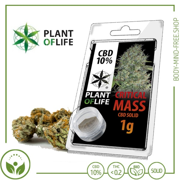 CBD Pollen (Hash) solid Plant of Life 10% CBD Critical Mass