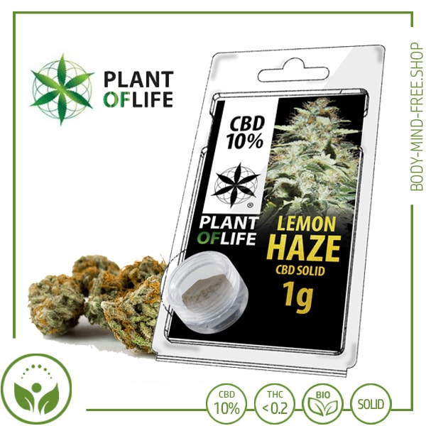 CBD Pollen (Hash) solid Plant of Life 10% CBD Lemon Haze