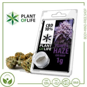 CBD Pollen (Hash) solid Plant of Life 10% CBD Purple Haze