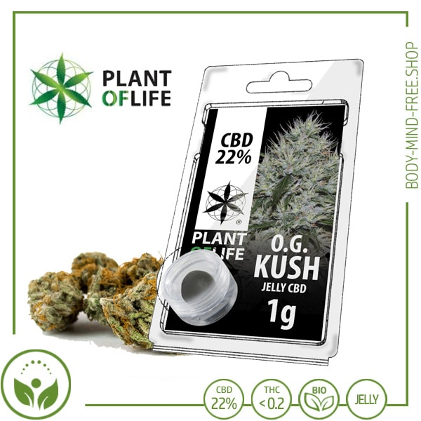 22% CBD Jelly solid Plant of Life 10% CBD O.G. Kush