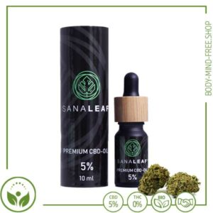 Sanaleaf Premium CBD Oil 500mg 5% Cannabidiol
