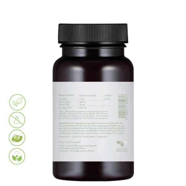 CBD Vital Ölkapseln Pure CBD 18% CBD von Vitrasan - Inhaltsstoffe