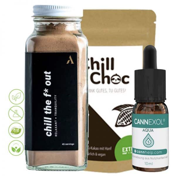 Chill set Anti Stress - Chill the fuck out, chillchoch & Cannexol agua 5