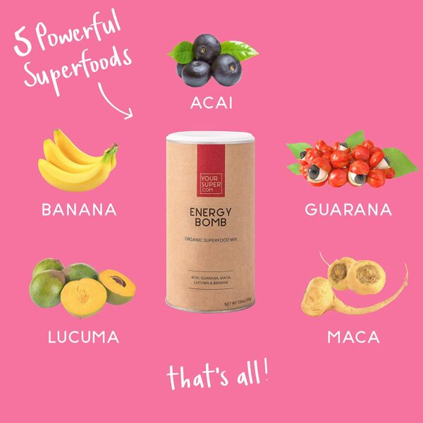 Energy Bomb von Your Superfood - Der Powermix Inhaltsstoffe