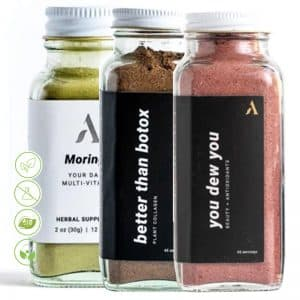 Glow Baby Glow Beauty Nachrungsergänzungsmittel Superfood Set Apothekary - drei Superfoods