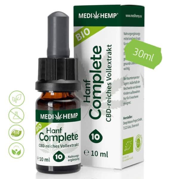 Bio Hanf CBD Öl - Vollextrakt CBD ÖL Complete 10% CBD 30ml von MediHemp