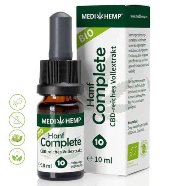 Bio Hanf CBD Öl - Vollextrakt CBD ÖL Complete 10% CBD von MediHemp