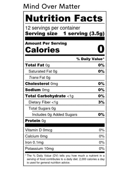 Superfood Nahrungsergänzuungsmittel Mind over Matter- Makros