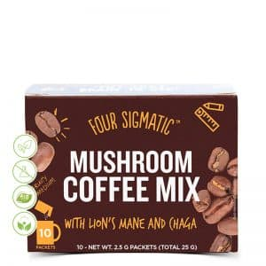 Mushroom coffee mix mit Lions mane & chaga von Four Sigmatic
