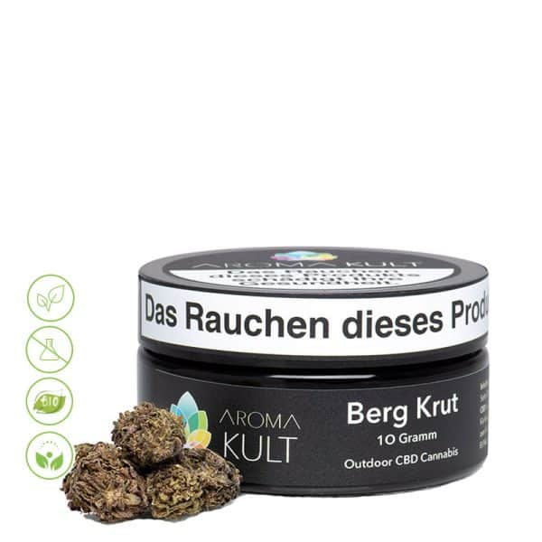 CBD Cannabis Blüten Berg Krut von Aromakult