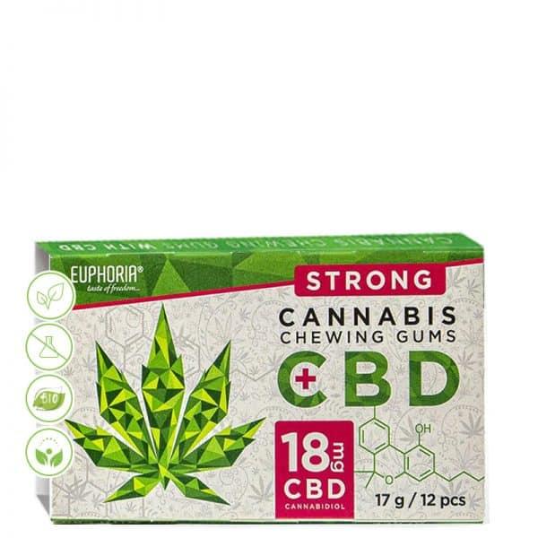 Cannabis Kaugummi mit 18mg CBD von Euphoria