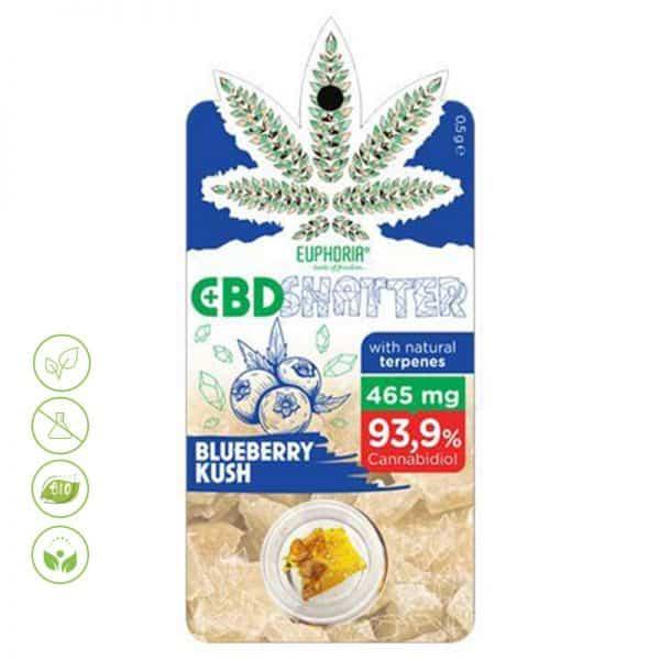 CBD Shatter Blueberry Kush 93,9% CBD von Euphoria