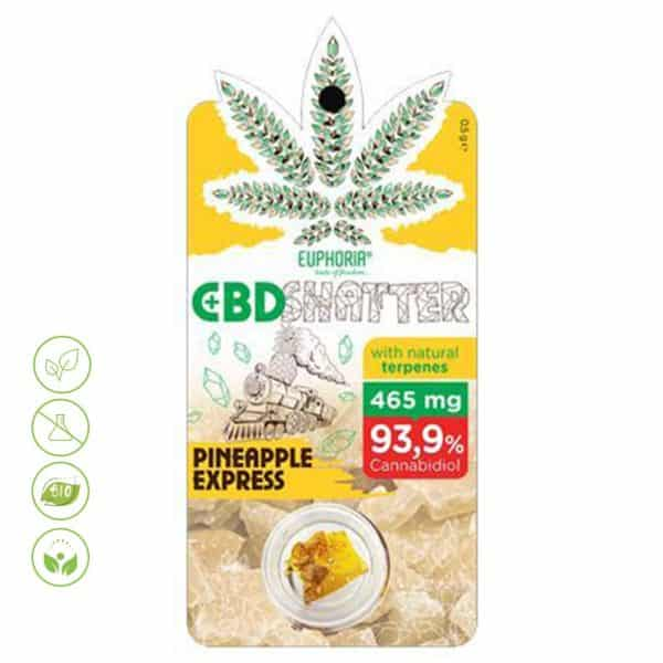 CBD Shatter Pineapple Express 93,9% CBD von Euphoria