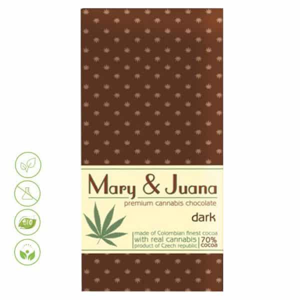 Cannabis Schokolade Mary & Juana dunkle Schokolade von Euphoria