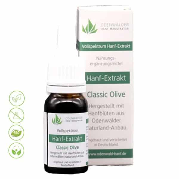 Hanf Extrakt CBD Öl Classic Olive von Odenwälder Hanf Manufaktur