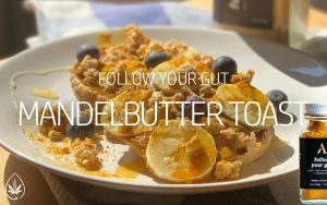 follow your gut Mandelbutter Toast