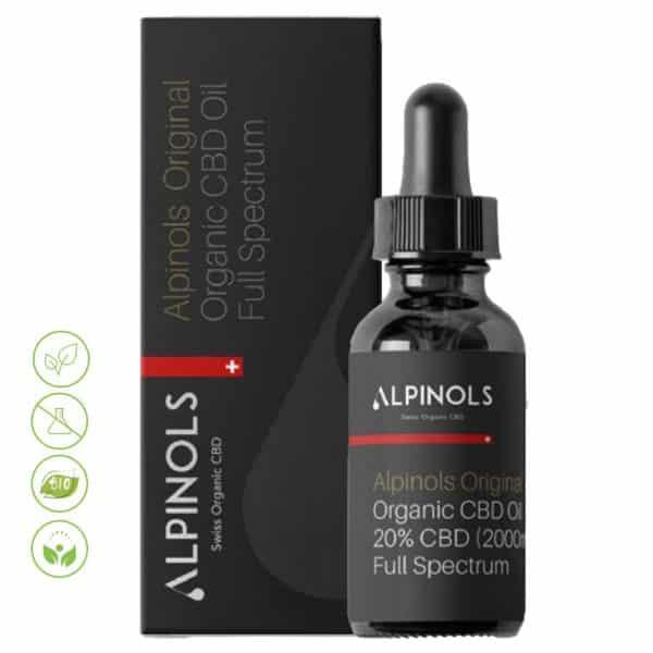 Alpinols Vollspektrum CBD Öl 5%-25% aus der Schweiz