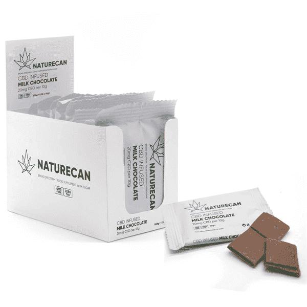 Naturecan CBD Schokolade Vollmilch 1