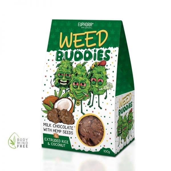 Weed Buddies Hanfsamen mit Vollmilch-Schokolade